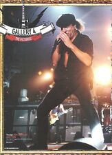 AC/DC Brian in the gallery magazine PHOTO/Poster/clipping 11x8 inches