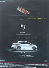 PUBLICITE AUTOMOBILE CITROEN DS4 ELEGANCE CONFORT DE 2014 FRENCH AD ADVERT PUB
