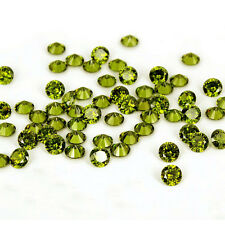 1000pcs 1mm Green Olive Cubic Zirconia Round Cut Loose Gemstone Jewelry stones