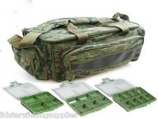 New NGT Green Camo Carp Fishing Tackle Bag Holdall + 3 Tackle Bit Boxes NGT