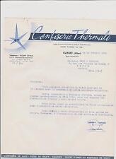 PAPIER EN-TETE COMMERCIALE/CONFISERIE THERMALE-CUSSET PASTILLES VICHY-DRAGEES