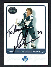 Darryl Sittler #52 signed autograph 2001 Fleer Hockey Greats of the Game GOTG