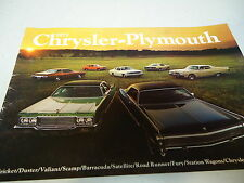 73 CHRYSLER-PLYMOUTH SHOWROOM CATALOG GREAT. COND.