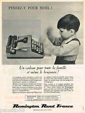 PUBLICITE ADVERTISING 095  1962  REMINGTON   machine à écrire