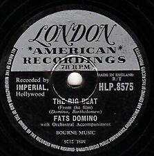 """78 FATS DOMINO AT HIS BEST """"THE BIG BEAT /I WANT YOU TO KNOW"""" LONDON HLP 8575 EX"""