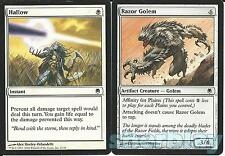 Magic the Gathering TCG DARK STEEL Hallow Instant & Razor Golem Artifact