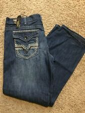 NWT HELIX Men's Slim Straight Leg Blue Jeans SIZE 32x34 MSRP $50