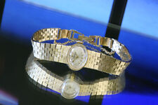 Ladies 14K Solid Gold Rolex Manual Wind Watch/14K Mesh Bracelet