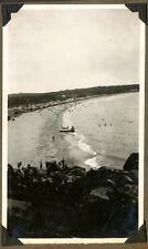 1928 Panorama of Beach Scene, Huts, Buildings along Beach Philippines or China ?