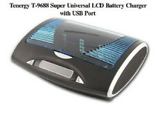NEW Tenergy T-9688 Super Universal LCD Ni-MH Battery Charger w/USB AA/AAA/C/D/9v