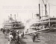 Mississippi River steam boats Memphis TN 1906 photo CHOICES 5x7 or request 8x10