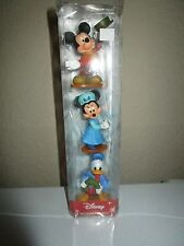DISNEY HOLIDAY FIGURES MICKEY & MINNIE MOUSE & DONALD DUCK NIP