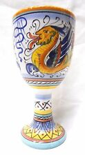 Deruta Pottery - Wine Goblet -Raffaellesco Made/Painted by hand Italy *NEW ITEM*