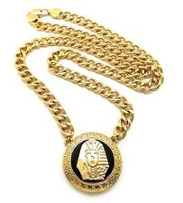 "NEW TYGA KING TUT PENDANT WITH 30"" 10mm LINK CHAIN.."
