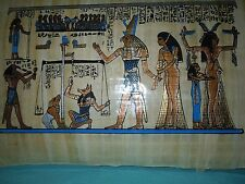 Egyptian Authentic Papyrus from Giza-Egyptian Papyrus Painting: Final Judgment