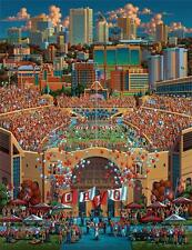 DOWDLE FOLK ART COLLECTORS JIGSAW PUZZLE THE OHIO STATE BUCKEYES 500 PCS