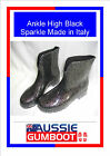 Smart Italian Ladies Ankle Gumboots Size 5 6 7 8 9 10 Wellies Gum Boots Womens
