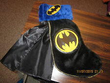 "Batman Logo 17"" WITH CAPE Christmas Stocking Tv Show Gotham Super Heroes 2015"