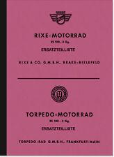 Rixe Torpedo RS 100/3 Ersatzteilliste RS100 Ersatzteilkatalog Teilekatalog