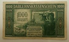 GERMANY LITHUANIA KOWNO 1000 MARK 1918   WW I NOTE R - 134.