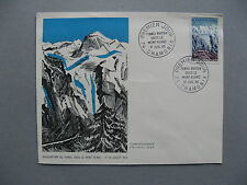 FRANCE, cover FDC 1965, Tunnel under the Mont Blanc, traffic