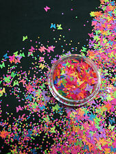Nailart Nageldesign Glitter Mix, Neon Pailletten Butterfly