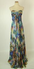 NEW $400 Jovani Multi Long Gown Evenig Prom Formal Size 4 Dress Cruise Strapless