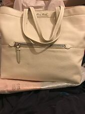 MIU MIU/PRADA WHITE/TALCO CALF SKIN LEATHER HANDBAG NWT