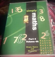 dvd simply maths part 4 volume 4A shape space and measures new sealed