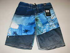 Billabong Boys 30/20 Burning Up Boardshorts Board Shorts Blue Hawaii Waves Palm