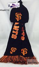 MLB San Francisco Giants Warm Winter Knit Hooded Scarf