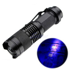Aluminum High Power 10W 395nm UV Lamp Purple Violet Light LED CREE Q5 Flashlight