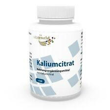 Vita World Kaliumcitrat 600mg 120 Vegi Kapseln Kalium Citrat Made in Germany