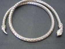 """Vintage Whiting & Davis Silver Mesh Serpent Snake Belt or Necklace 33"""" long"""