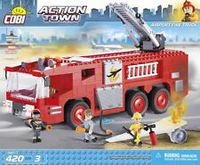 Cobi Toys - Airport Fire Truck - Works With Lego  - Building Blocks Set 420PC