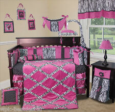 Baby Boutique - Zebra Princess - 13 pcs Crib Nursery Bedding Set