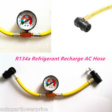 Car Air Conditioning Hose Pressure Gauge R-134a System AC Refrigerant Hose Tool