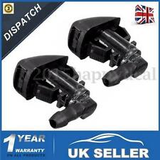 2x FRONT WINDSCREEN MIST WATER WASHER JETS SPRAY NOZZLES FOR FORD FOCUS 08-11 UK