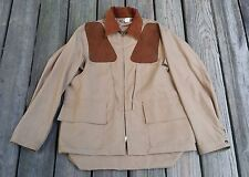 Vintage DUXBAK Aero Cloth Khaki Hunting Jacket Coat w/ Game Pouch Men's Size M