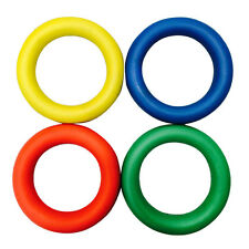 Sponge Rubber Quoits Hoop Colored Rings set of 4 Traditional Fun Play Throw Game