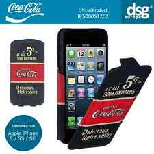 Coca-Cola Genuine Old 5 Cents Flip Case Cover for Apple iPhone 5 / 5S / SE