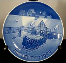 Bing & Grondahl 1969 Arrival of Christmas Guests Collector Plate B&G Jule After