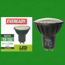 6x 3W Eveready LED 6500K Daylight White GU10 Instant On Spot Light Bulbs Lamps