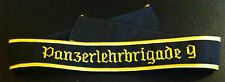 ✚2933✚ German Bundeswehr GENERAL cuff title 9th PANZER LEHRBRIGADE embroidered