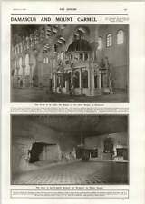 1918 Great Mosque Damascus Prophets Cave Monastery Mount Carmel