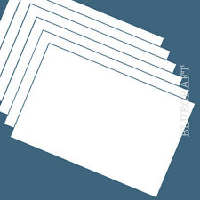 100 x A6 White Blank Competition Entry Postcards 230mic