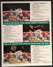 1950s CROSLEY TELEVISION CHRISTMAS WINDOW STORE DISPLAY DEALER ORDER FORM TV