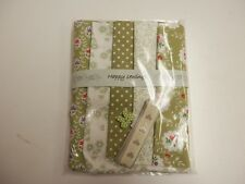 Splendido VERDI-tessuto Craft Pack - 5 Fat EIGHTS, Nastro & button-100% COTONE