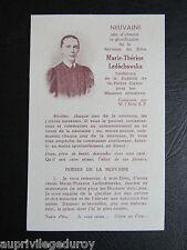 NEUVAINE pour Marie-Thérèse LEDOCHOWSKA, 1938.