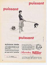 PUBLICITE ADVERTISING 064 1959 ROTARY l'aspirateur puissant